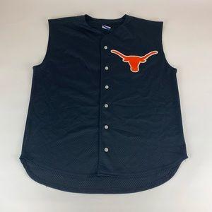 Texas Longhorns NCAA Sleveless Baseball Jersey